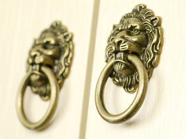 Decorative Hardware Lion Head Kitchen Cabinet knob And Drawer Pull ...