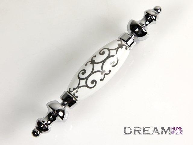 Beautiful Dream Home Ceramic Handle Cabinet Handles Drawer Pulls C:76mm L:125mm  AK99PC ...