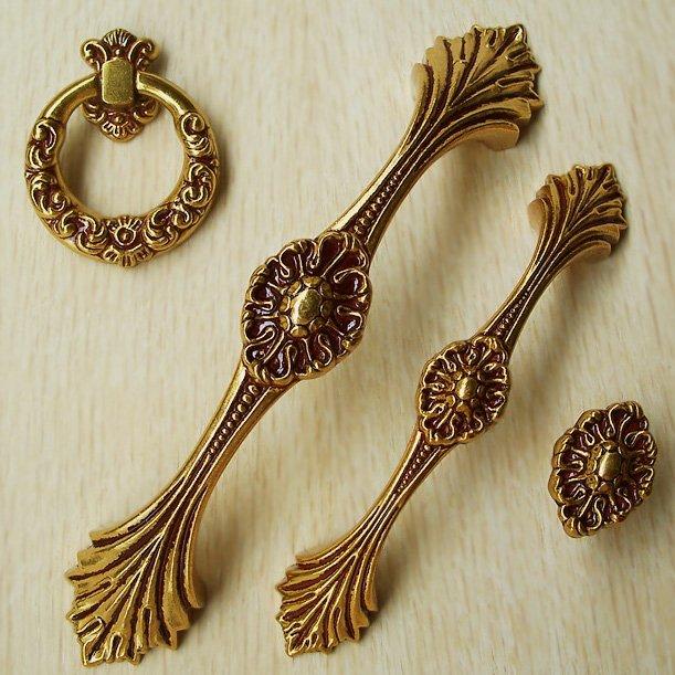 Golden antique copper European style door handle/drawer rural ambry ...